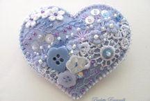 Сердечки, подушечки - игольницы