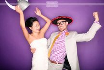 Thompson Island Photobooth / Great examples of what our ring flash photo booth looks like with a bright purple backdrop and budget friendly props... from a rustic wedding on Thompson Island (an Outward Bound Educational Center in the Boston Harbor!)...