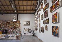 Galpão Enrique Rodriguez / SP / Espaço de criação e show room do Artista Plástico e Designer Industrial Enrique Rodríguez na região do Baixo Augusta no centro de São Paulo, Capital.