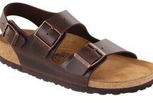 Birkenstock Milano / The ready for adventure Birkenstock Milano sandals with a back strap to stick on your foot.