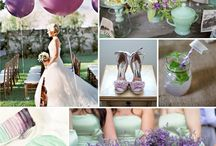Purple/ Plum/ Eggplant/ Lilac/ Lavender Weddings / Purple Palettes/ Various Purple Color Combinations