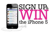 IPhone 5 Giveaway / We are giving away an iPhone 5 in your choice of black or white. Join the Contest. Click here to find out more details.