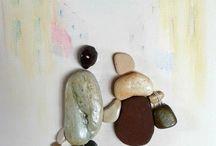 из морских камешков