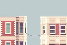 buildings illustrations