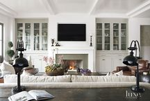 built in fireplaces and shelves