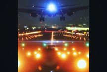 少し早いイルミネーション。 a airport's illumination #aviation #airport #airplane #nightview #illustration #itamiairport #伊丹空港 #千里川 #飛行機 #イルミネーション写真
