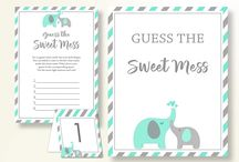 Baby Shower Products in Turquoise Elephant Theme, Invitations, Games, Decorations And More / Hi, thank you for visiting this beautiful baby shower board with products in Turquoise Elephant theme. Here, you'll find invitations, games and activities, decorations and more with over 60 products in this theme.