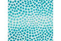 Mozaiky, malba na sklo