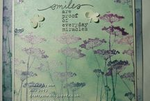 """Stamp:Insightful Meadows / These handmade cards feature stamps from the Unity stamp set """"Insightful Meadows."""""""