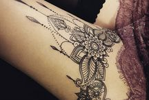 Leg tatto