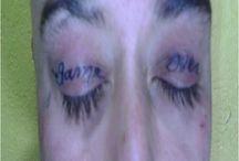 Weirdest eyelid tattoos  / Weirdest eyelid tattoos