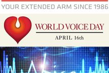 World Voice Day 16 April / Every year on April 16, otolaryngologist—head and neck surgeons and other voice health professionals worldwide join together to recognize World Voice Day (WVD). World Voice Day encourages men and women, young and old, to assess their vocal health and take action to improve or maintain good voice habits. In Turkey, there are 5 events held this year regarding World Voice Day.