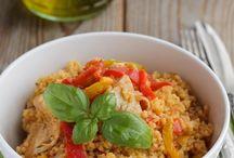 insalata de cous cous con pollo e verdura