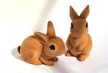 Josef Originals Flocked Animals - Forest Creatures