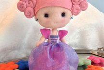 bonecos de feltro , EVA e pano