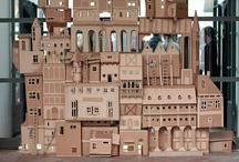 Gebäude aus Pappe
