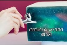 Tutos gâteaux galaxie - Galaxy cakes tutorials / Tutos gâteaux galaxie - Galaxy cakes tutorials fondant - pate a sucre