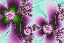 цветы фракталы