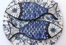 peixes em mosaico