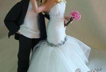 Wedding Cake Topper Sara Gomes/Topo de Bolo de biscuit Sara Gomes