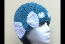 リボン付き帽子編み図付き
