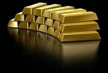 Nemesfémek / Befektetési arany és ezüst tömbök.