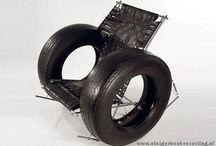meubels en voorwerpen van fietsband