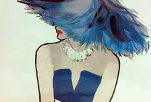 Vintage fashion illustrations