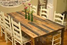Dining room table / by Elizabeth Woodall