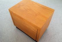 Revolving phonograph album cabinet