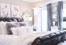 Black n white bedroom