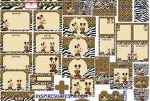 Safari Mickey 2nd bday / by Julie Jordão