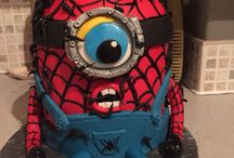 SpiderMan minion venom / As requested by my 6 year old , SpiderMan minion being taken over by venom