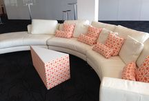 Corporate seating / Lovely fresh bright furniture to incorporate easy listening and speeches at any corporate event