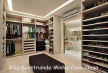 Closets maravilhosos!!! / Veja + Inspirações e Dicas de decoração no blog!  www.construindominhacasaclean.com