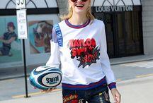 W. women fashion street shirts / fashion street women shirts blouses by Ailsaclothing