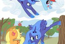 prinsses Luna and mane 6