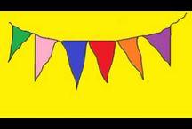 rood, geel, blauw (primaire kleuren)