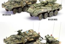 Stryker models 1-35 scale