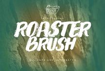 Roaster Brush Collection by fontasticlab on @creativemarket