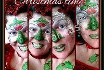 Christmas Facepainting by Face Fantasy   BodyArt / Christmas & winter facepaint All made by Face Fantasy Www.facefantasy.nl