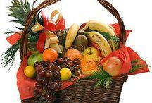 Корзины фруктов, овощей, цветов, конфет и прочее наполнение