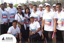 Mumbai Marathon / High-pitched energy! Team Ahuja at India's biggest charity event - # Standard Chartered Mumbai Marathon
