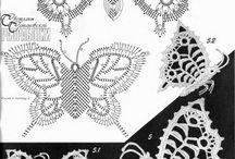 Mariposas de ganchillo
