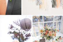 Coral & Grey wedding Inspirations