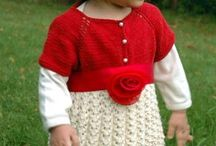 Knit Baby Dresses