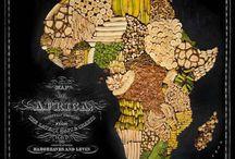 Landkarten aus Lebensmittel und Früchte / Aus Leidenschaft für Essen und Reisen zusammen mit der grenzenlosen Kreativität schafften Stilist Caitlin Levin und Fotograf Henry Hargreaves die Landkarten vieler Länder und Kontinente auf der Welt aus typischen Früchten und Lebensmittel.
