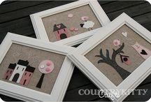 Kreatív varrás / varrt képek, díszek, figurák