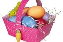Ostern Farben Eier Aufhänger