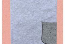 New project cashmere pocket / Soft and coloured fine cashmere pocket personalised for your tshirt!